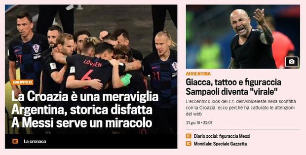 'Xấu hổ', 'thảm họa', 'đau khổ', báo Argentina câm lặng vì Messi và đồng đội 6