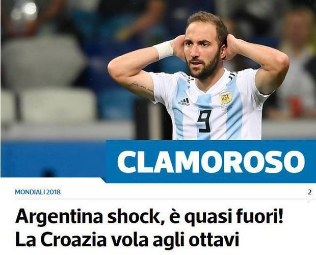 'Xấu hổ', 'thảm họa', 'đau khổ', báo Argentina câm lặng vì Messi và đồng đội 7