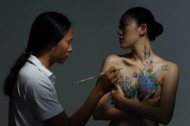 Người mẫu Kim Phượng yêu cầu thực nghiệm hiện trường 2