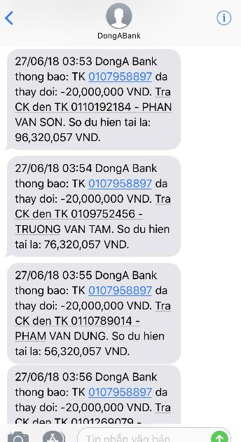 Hai khách hàng DongA Bank bất ngờ mất hơn 200 triệu đồng trong thẻ ATM 1