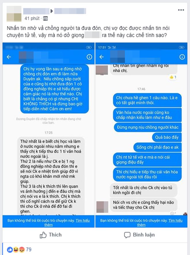 Nhắn đồng nghiệp nữ của chồng đừng nhờ đưa đón nữa, vợ trẻ bị cảnh cáo: