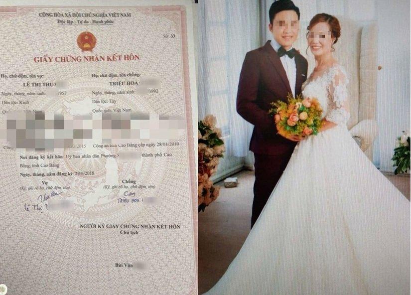 Hình ảnh Cô dâu 62 tuổi lấy chú rể 26 tuổi: Cả hai đều tự nguyện, đảm bảo các yêu cầu về Luật hôn nhân và gia đình số 1