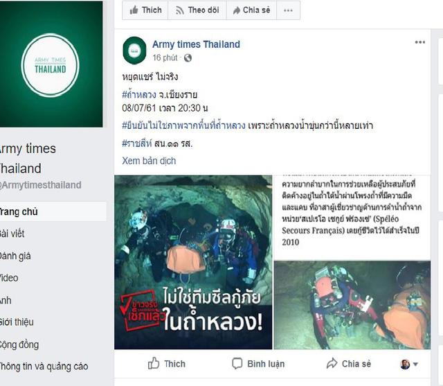 Xuất hiện hình ảnh giả 'ăn theo' vụ giải cứu đội bóng Thái Lan 1