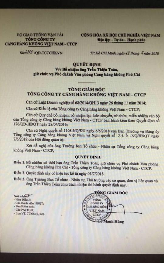 Tổng Giám đốc Cảng hàng không Việt Nam ký bổ nhiệm hơn 70 cán bộ trước khi về hưu 1