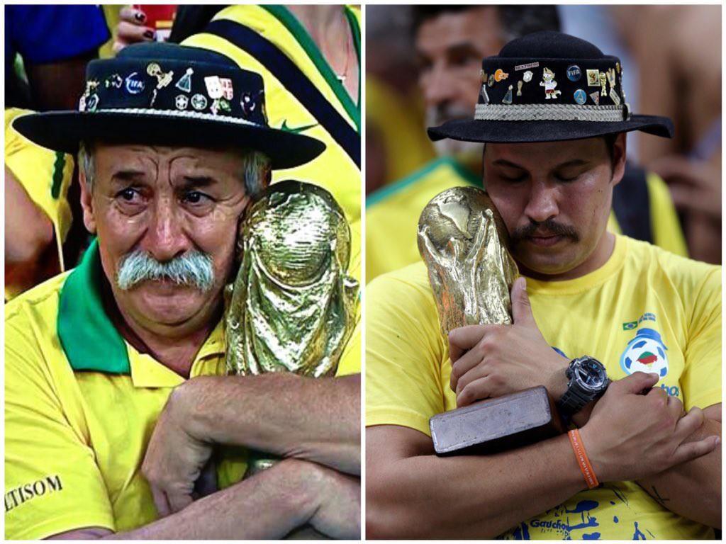 Bức ảnh chứa đựng câu chuyện xúc động về người đàn ông cầm cúp đi cổ vũ World Cup suốt gần nửa cuộc đời 6