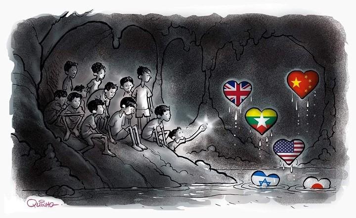 Những bức tranh dễ thương và ý nghĩa của dân mạng về hành trình giải cứu đội bóng Thái mắc kẹt 5