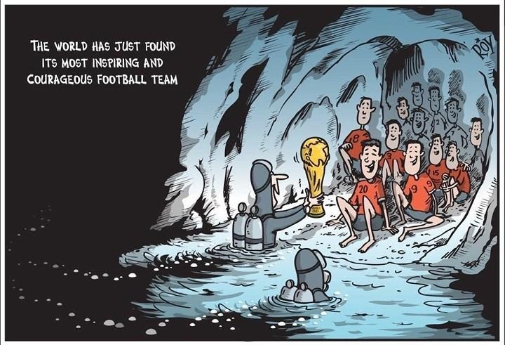 Những bức tranh dễ thương và ý nghĩa của dân mạng về hành trình giải cứu đội bóng Thái mắc kẹt 10