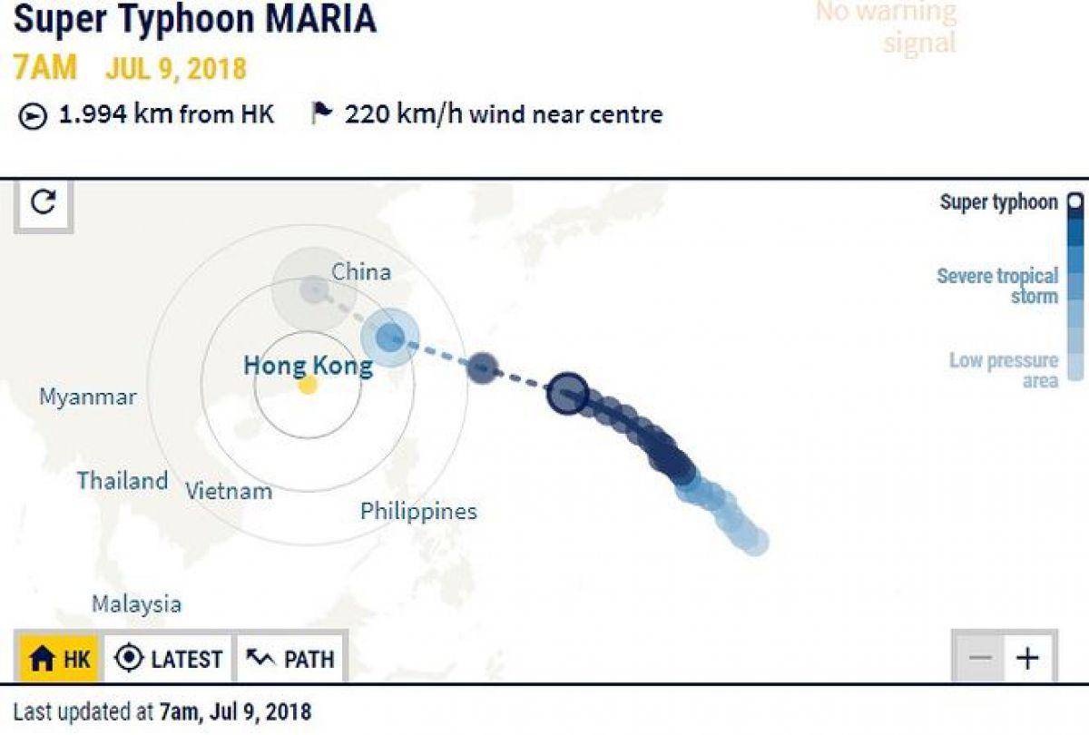Hình ảnh Sức tàn phá kinh hoàng chưa từng thấy của siêu bão Maria sắp đổ bộ châu Á số 2
