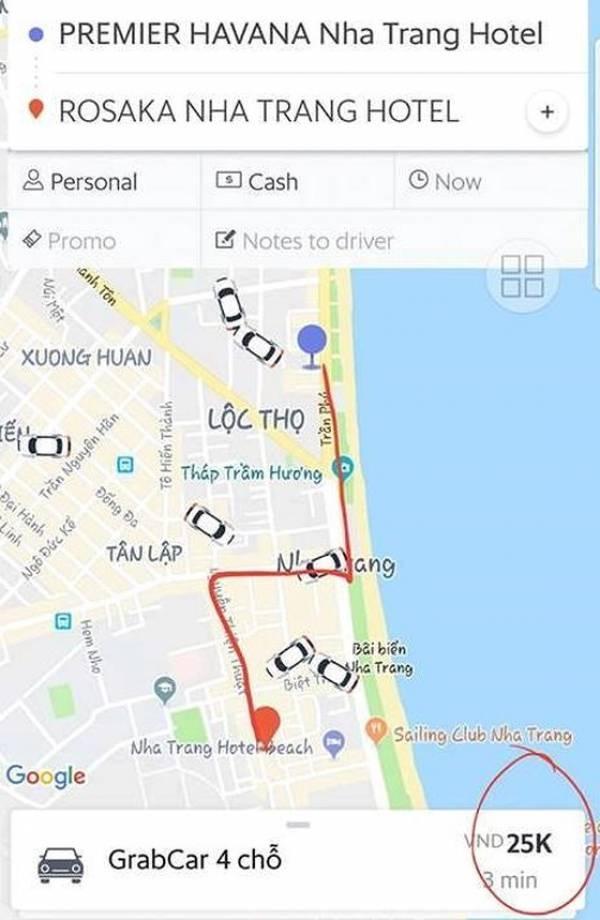 Hình ảnh Khách nước ngoài bức xúc tố tài xế taxi ở Nha Trang ép trả phụ thu gấp 7 lần tiền cước số 2