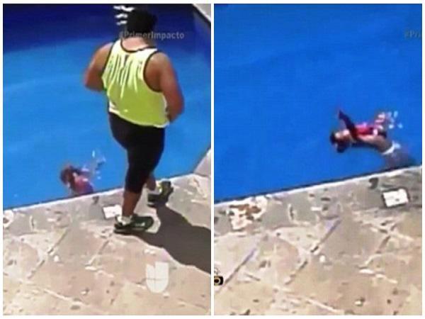 Kinh hãi clip cha dượng ném con gái 3 tuổi xuống bể bơi đến chết 1