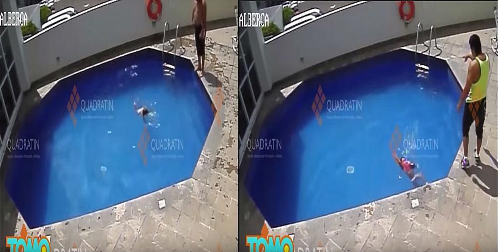 Kinh hãi clip cha dượng ném con gái 3 tuổi xuống bể bơi đến chết 2