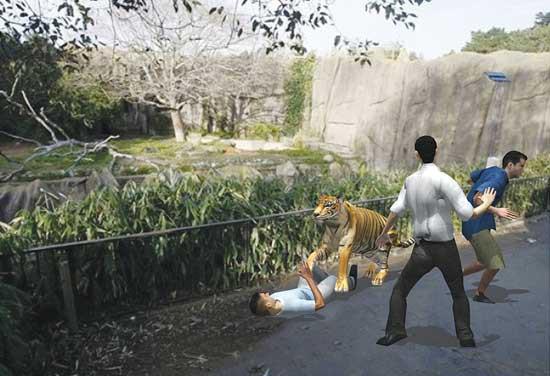 Trung Quốc: Cùng mẹ cho khỉ ăn ở vườn thú, bé gái bất ngờ bị con vật đấm vào mặt 3