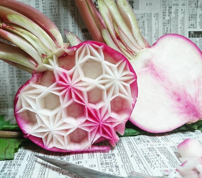 Chùm ảnh: Đỉnh cao của nghệ thuật cắt tỉa hoa quả là đây chứ đâu, dưa hấu, táo, lê bỗng chốc biến thành đèn lồng đẹp mê mẩn - Ảnh 11.