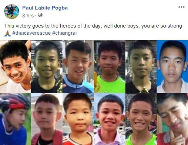 Sao tuyển Pháp tặng chiến thắng cho đội bóng nhí Thái Lan vừa được giải cứu thành công - Ảnh 1.