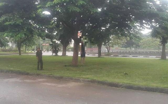 Để lại đôi dép, nam thanh niên treo cổ trên cây ở Hải Dương 1