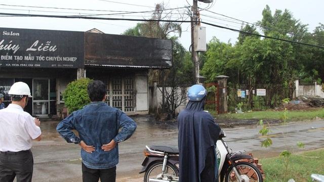 Nổ trạm điện ở Củ Chi, 2 nhân viên điện lực bị bỏng nặng 1
