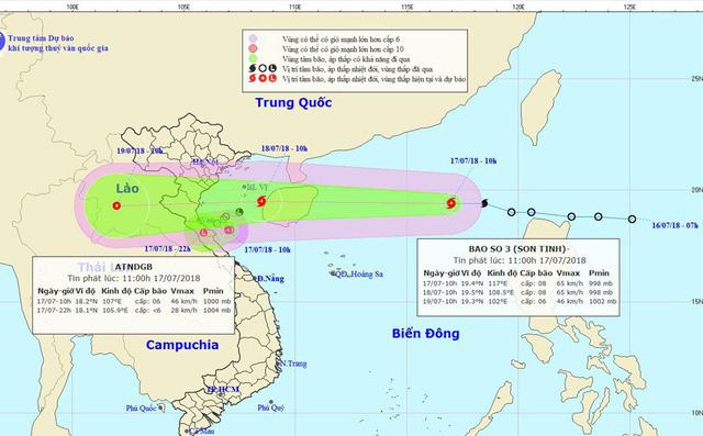 Công điện hỏa tốc ứng phó bão số 3 Sơn Tinh đang vào đất liền 1