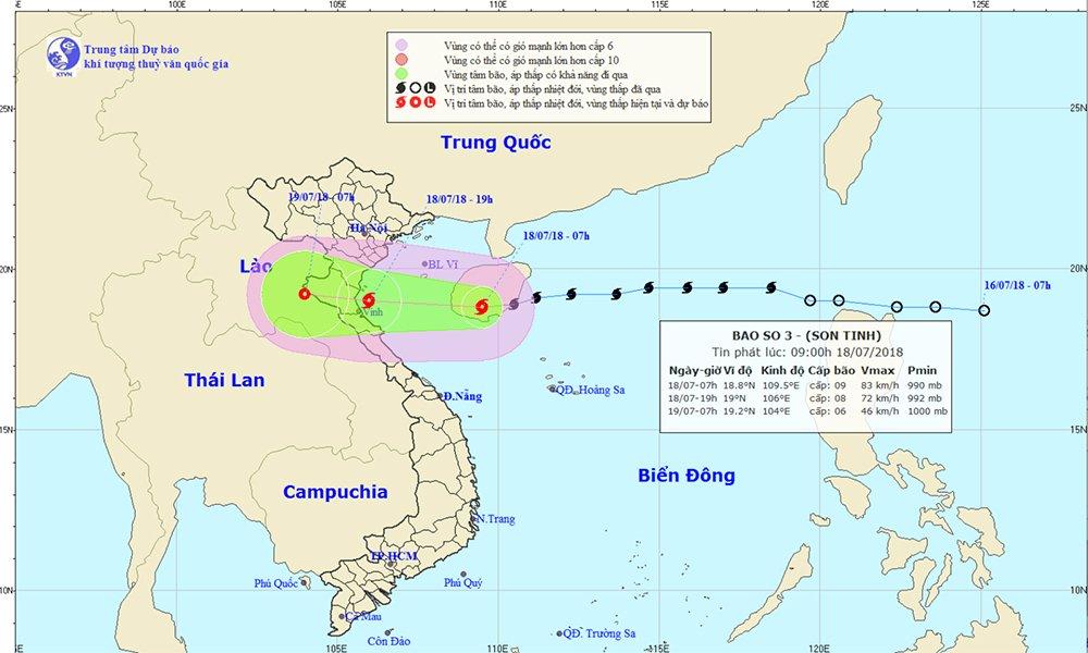 Bão Sơn Tinh đổ bộ, Thanh Hóa đến Nghệ An hứng chịu nặng nhất 1