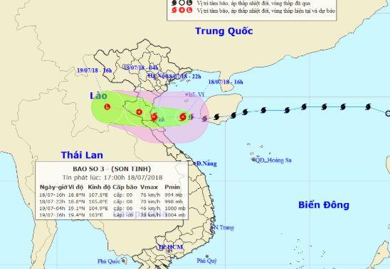 Nóng: Bão số 3 đang tiến vào đất liền Thanh Hóa - Quảng Bình 1