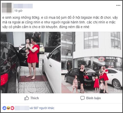 """Mặc váy đỏ sexy ra đường, mẹ bỉm sữa 80kg bị nhìn như """"người ngoài hành tinh"""", hội chị em lại rào rào ủng hộ 1"""
