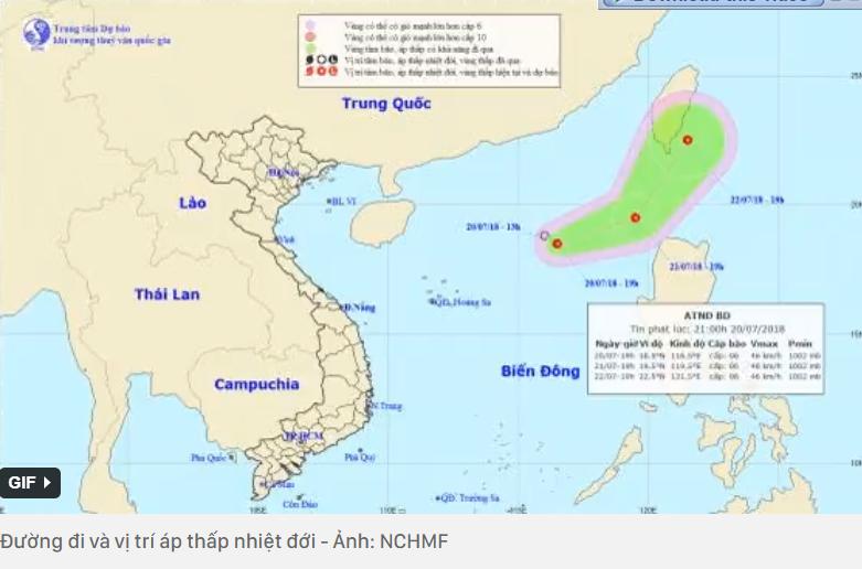 Bão số 3 vừa tan, lại tiếp tục xuất hiện áp thấp nhiệt đới trên biển Đông 1