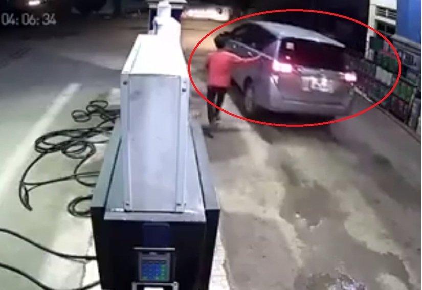 Hình ảnh Tài xế ôtô vào đổ một triệu tiền xăng rồi rồ ga bỏ chạy số 1