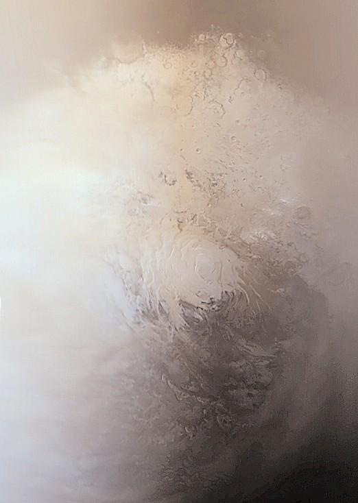 [TIN NÓNG] Phát hiện ra dấu vết của một hồ nước khổng lồ rộng 20 km dưới lớp băng trên Sao Hỏa 2