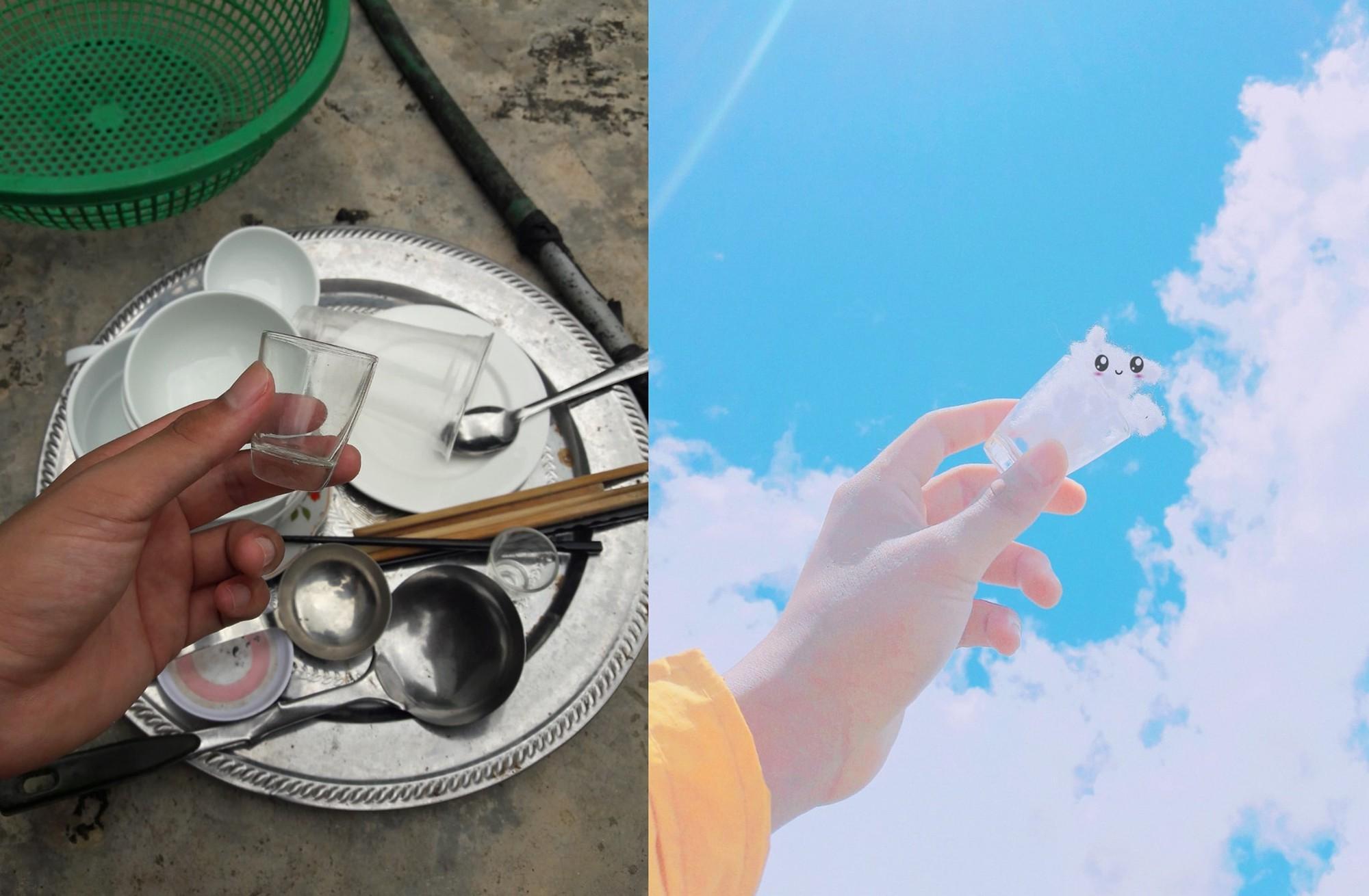 Bị mẹ bắt đi rửa bát, thanh niên cao hứng sáng tạo luôn một bộ ảnh siêu đáng yêu với mây trời 3