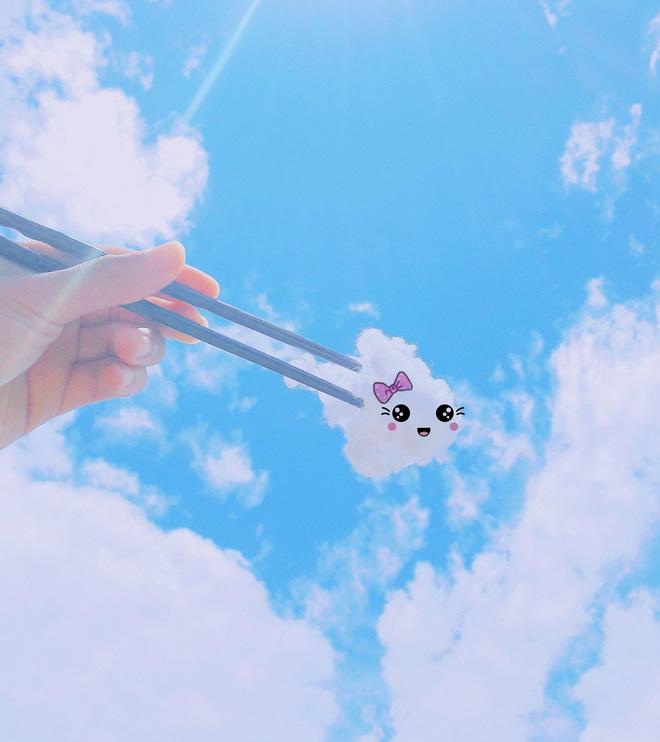 Bị mẹ bắt đi rửa bát, thanh niên cao hứng sáng tạo luôn một bộ ảnh siêu đáng yêu với mây trời 9