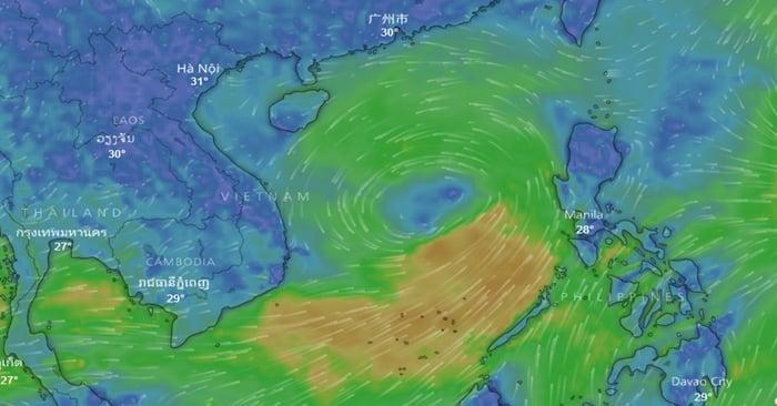 Hình ảnh Vùng áp thấp trên biển Đông diễn biến khó lường, có đường đi khiến chuyên gia khó hiểu số 1