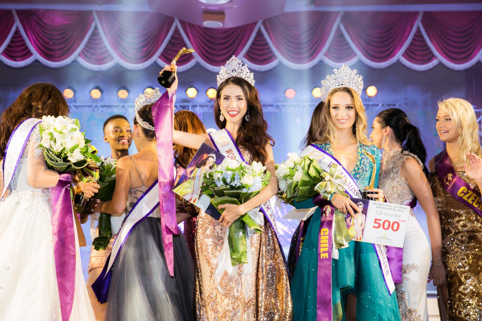 Lận đận thi nhan sắc, cuối cùng Phan Thị Mơ bất ngờ đăng quang Hoa hậu Đại sứ Du lịch Thế giới 2018 tại Thái Lan 2