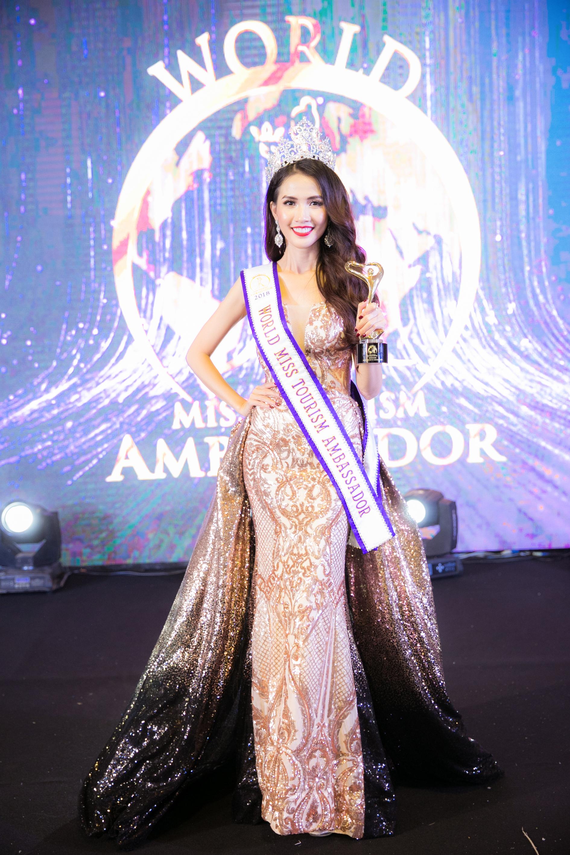 Lận đận thi nhan sắc, cuối cùng Phan Thị Mơ bất ngờ đăng quang Hoa hậu Đại sứ Du lịch Thế giới 2018 tại Thái Lan 1