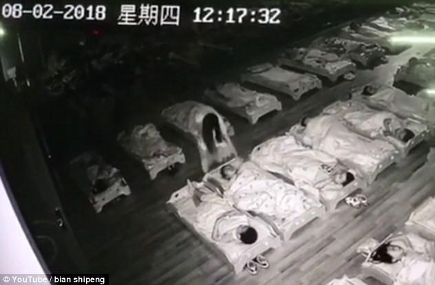 Trung Quốc: Giữa giờ nghỉ trưa, cô trông trẻ đi tát và đạp vào các bé mẫu giáo đang ngủ 1