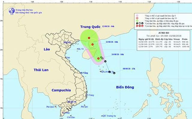 Hình ảnh Công điện khẩn ứng phó với áp thấp nhiệt đới trên biển Đông số 1