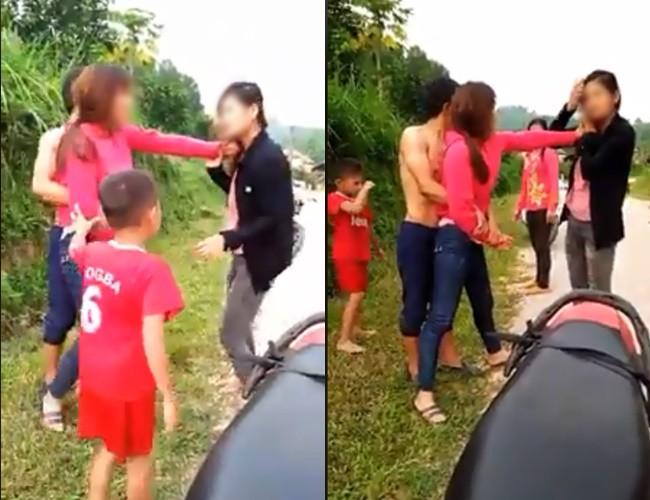 Vợ túm tóc đánh ghen nhân tình của chồng còn hô hào 2 con nhỏ giúp sức: 'Hai đứa con vào hộ mẹ, đánh luôn' 1