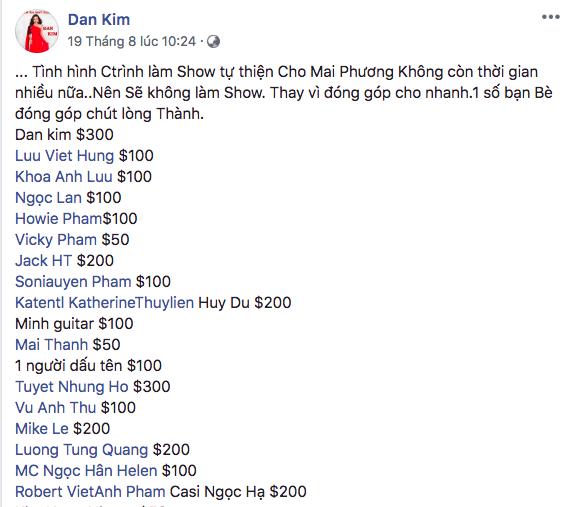 Bạn gái Phùng Ngọc Huy kêu gọi ủng hộ Mai Phương nhưng bị cư dân mạng