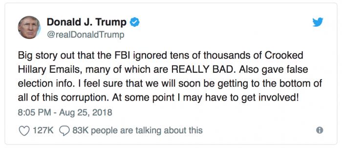 Tổng thống Trump: FBI không điều tra xác đáng các email của bà Hillary 1