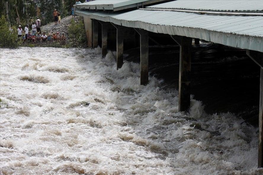 Nước lũ lên cao bất thường, An Giang bất ngờ xả đập sớm trước 4 ngày 1