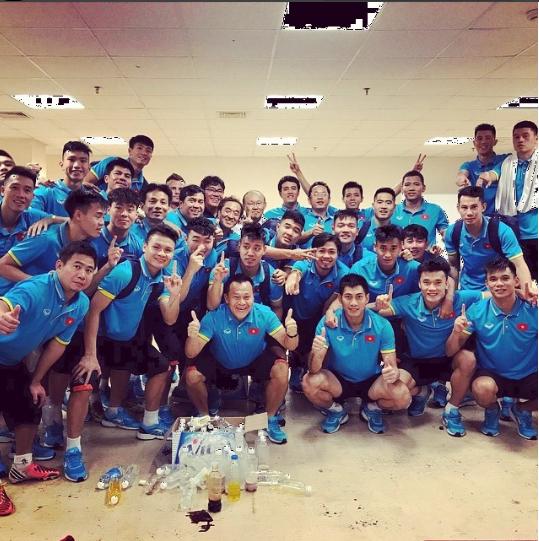 Tiền đạo Văn Quyết - người ghi bàn thắng tung lưới Olympic UAE