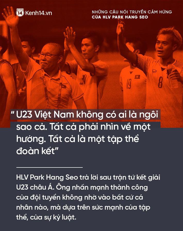 Những câu nói truyền cảm hứng của HLV Park Hang Seo cho bóng đá Việt Nam 2