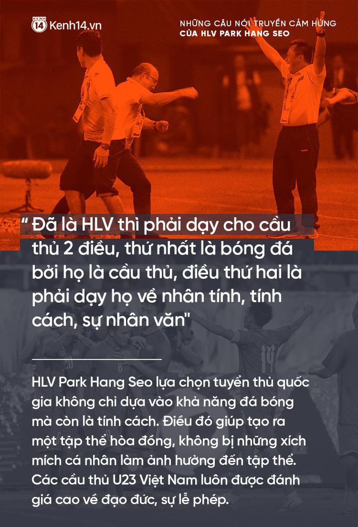 Những câu nói truyền cảm hứng của HLV Park Hang Seo cho bóng đá Việt Nam 6
