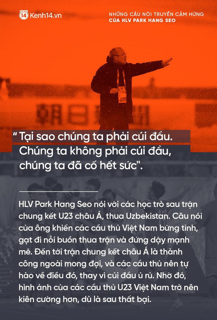 Những câu nói truyền cảm hứng của HLV Park Hang Seo cho bóng đá Việt Nam 7