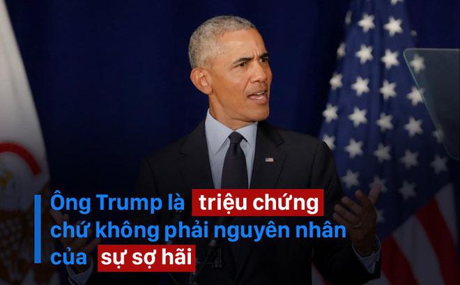 Ông Obama trở lại chính trường Mỹ với bài phát biểu đanh thép đầy ẩn ý 1