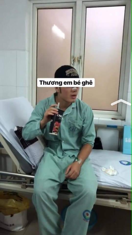 Fan xót xa nhìn hình ảnh Lương Xuân Trường băng mũi sau tiểu phẫu 1