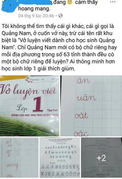 Xôn xao những cuốn vở luyện viết dành cho học sinh Quảng Nam 1