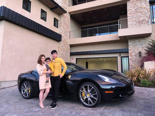 Vợ chồng Đan Trường gây chú ý khi xuất hiện bên siêu xe và biệt thự triệu đô 1
