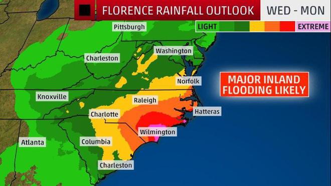 CNN: 4 yếu tố biến Florence trở thành siêu bão khó lường, mạnh nhất trong gần 3 thập kỷ 3