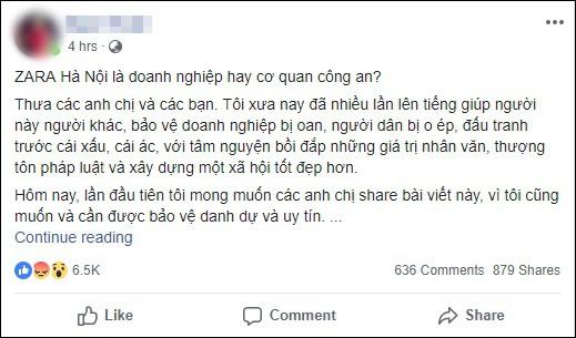 Người phụ nữ giận dữ khi bị kiểm tra túi xách vì cửa từ kêu, đại diện Zara Hà Nội lên tiếng 1