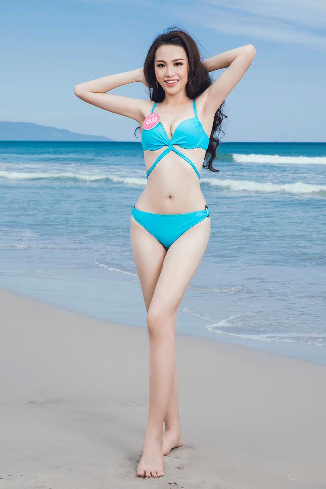 Hình ảnh Dàn thí sinh Hoa hậu Việt Nam đọ độ nóng bỏng với bikini trước ngày chung kết số 3