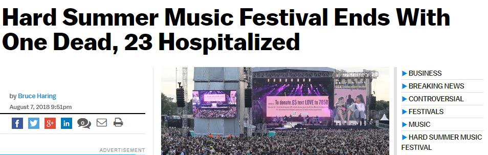 Những vụ nhập viện và tử vong do sốc thuốc tại nhạc hội gây chấn động truyền thông thế giới năm nay 8